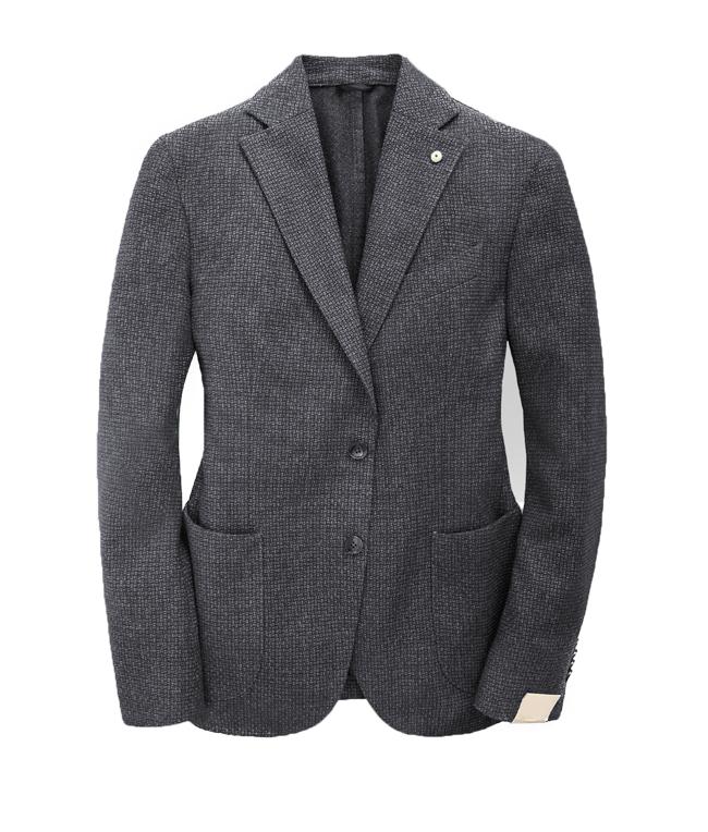 Luigi Bianchi Mantova - Outlet - giacca slim in lana grigia