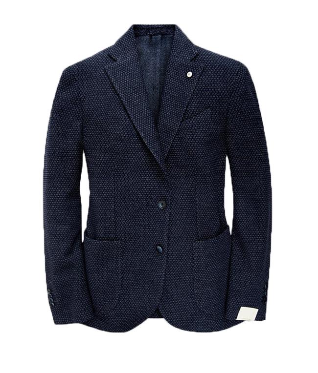 Luigi Bianchi Mantova - Saldi - giacca in lana blu