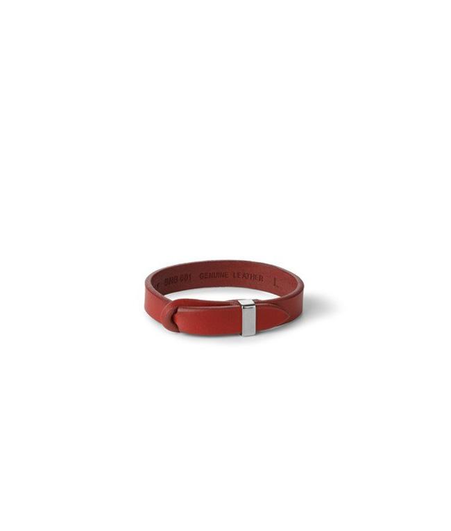 """Orciani - Accessori - bracciale nobuckle""""bull"""" in cuoio, t.vivo h.14 rosso"""