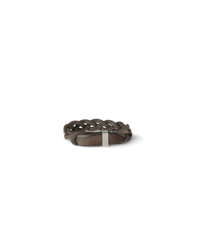 """Orciani - Accessori - bracciale intrecciato""""walk"""" in cuoio grigio"""