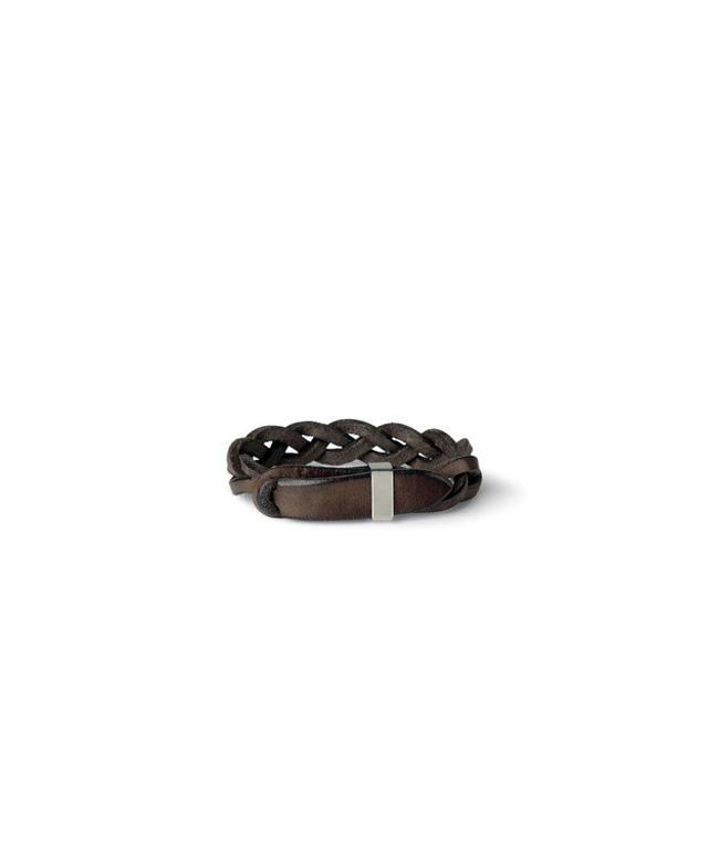 """Orciani - Accessori - bracciale intrecciato""""walk"""" in cuoio t. moro"""