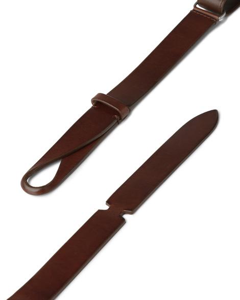 "Orciani - Cinture - cintura nobuckle""bull"" in cuoio bruciato 2"