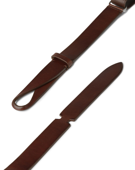 "Orciani - Cinture - cintura nobuckle ""bull"" in cuoio bruciato 2"