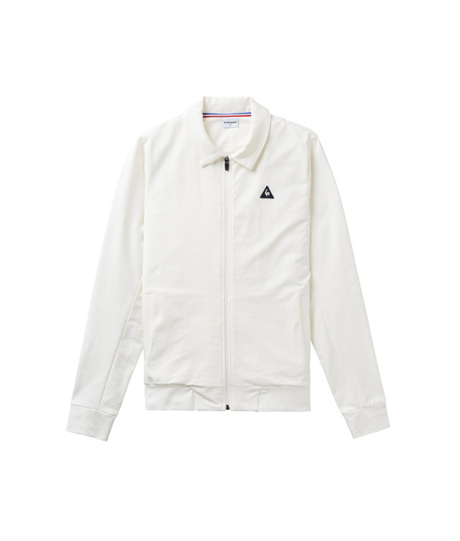 Le Coq Sportif - Outlet - felpa con zip essentiels white