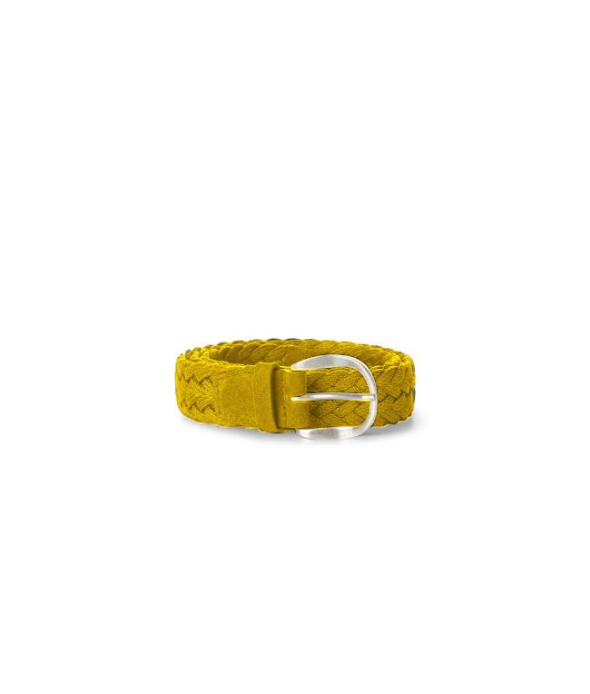 """Orciani - Cinture - cintura sportiva""""mali"""" in pelle e tessuto gialla"""