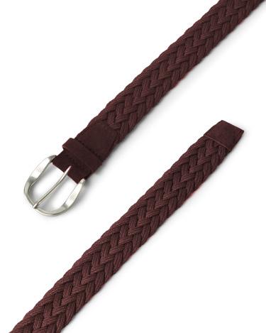 "Orciani - Cinture - cintura sportiva""mali"" in pelle e tessuto bordeaux 1"