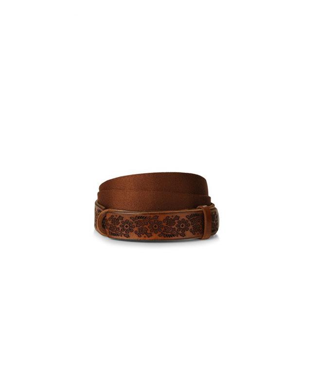 "Orciani - Cinture - cintura nobuckle""dive"" in pelle e tessuto cuoio"