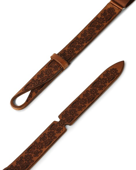 "Orciani - Cinture - cintura nobuckle ""dive"" in pelle e tessuto cuoio 1"