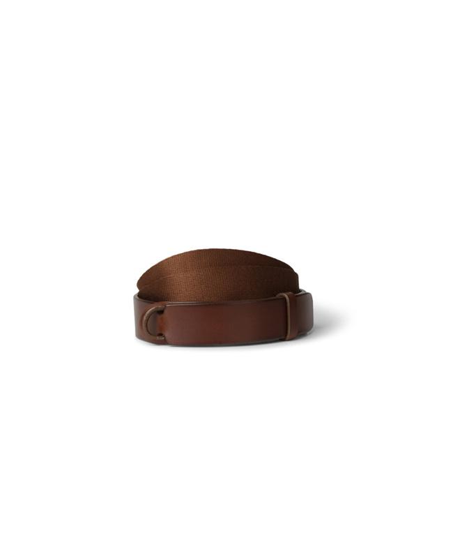 """Orciani - Cinture - cintura nobuckle """"bull"""" in cuoio e tessuto bruciato"""