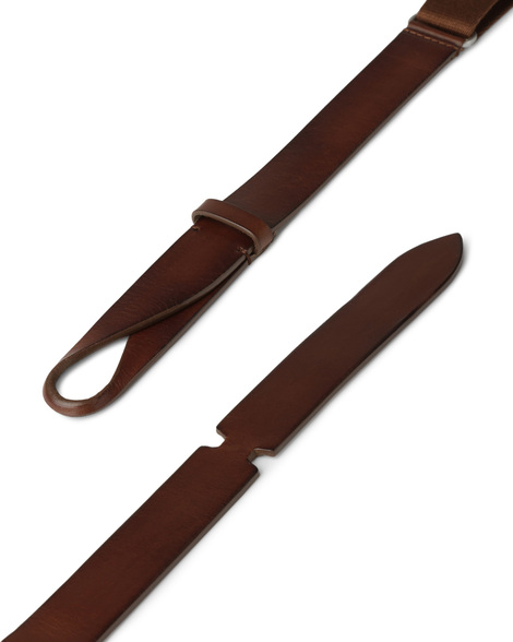 """Orciani - Cinture - cintura nobuckle""""bull"""" in cuoio e tessuto bruciato 1"""