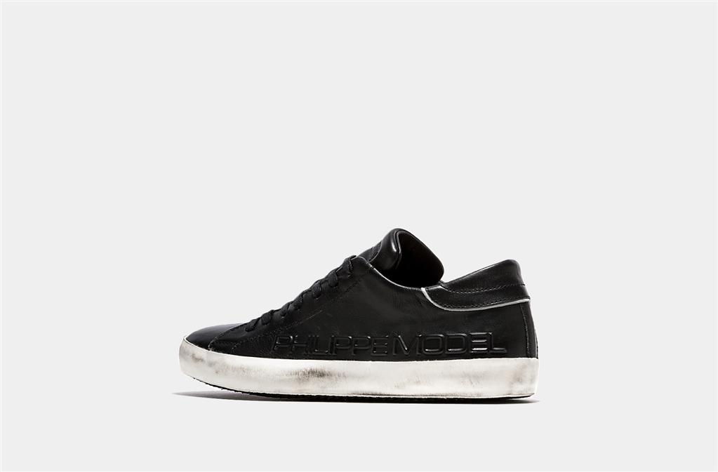 Philippe Model - Outlet - sneaker in pelle paris black 1