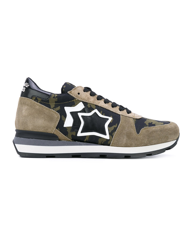 Atlantic Stars - Scarpe - Sneakers - SNEAKERS SIRIUS IN SUEDE MIMETICO BOSCO