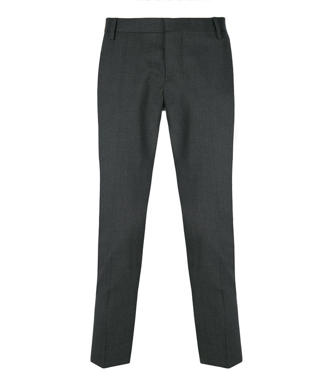 Entre Amis - Outlet - pantalone lana tk america corto grigio scuro
