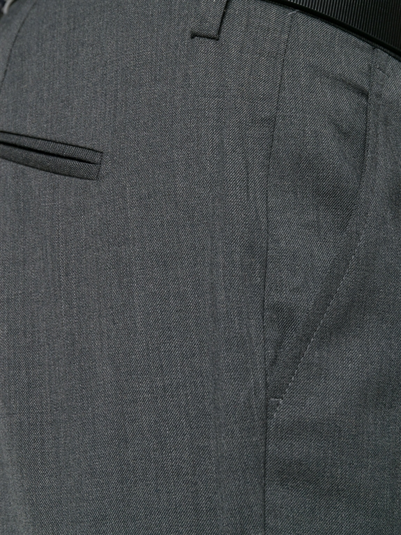 Entre Amis - Outlet - pantalone lana tk america corto grigio scuro 1