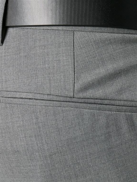 Entre Amis - Outlet - pantalone lana tk america corto grigio 1