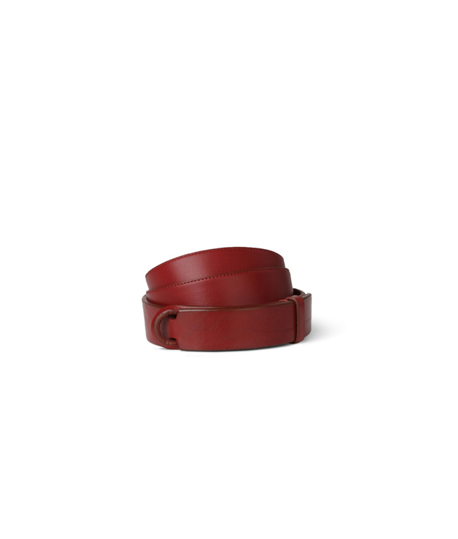 "Orciani - Cinture - cintura nobuckle ""bull"" in cuoio rossa"