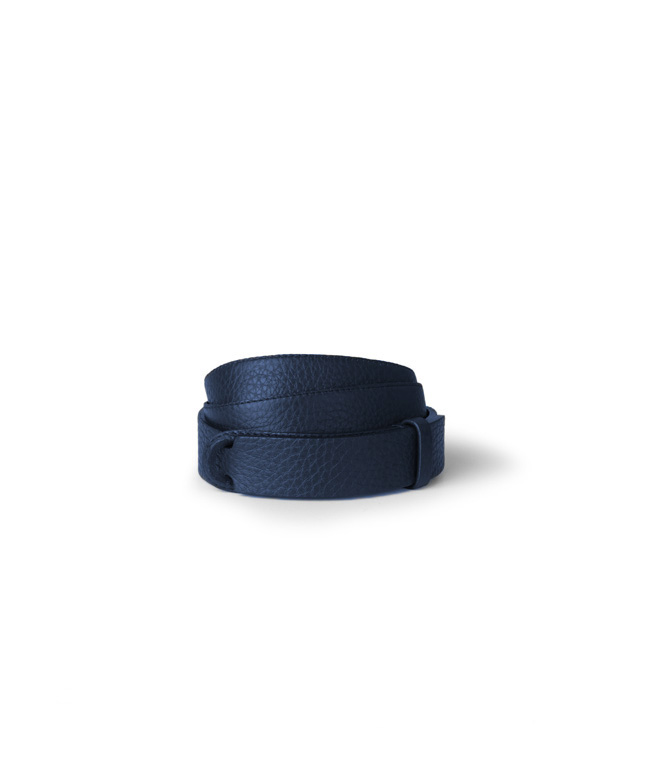 """Orciani - Cinture - cintura nobuckle """"bosphore"""" in pelle blu'"""