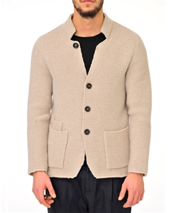 Paolo Pecora - Outlet - giacca monopetto in lana beige