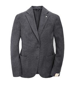 Luigi Bianchi Mantova - Saldi - giacca slim in lana grigia