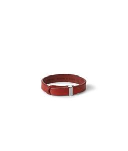 """Orciani - Accessori - bracciale nobuckle """"bull"""" in cuoio, t.vivo h.14 rosso"""