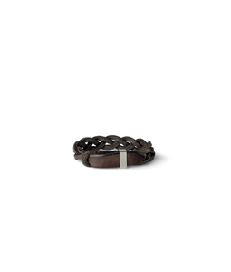 """Orciani - Accessori - bracciale intrecciato """"walk"""" in cuoio t. moro"""