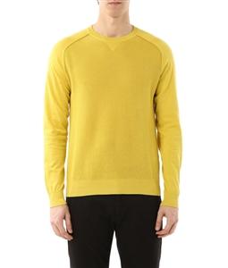 Paolo Pecora - Saldi - maglia girocollo con effetto rete giallo
