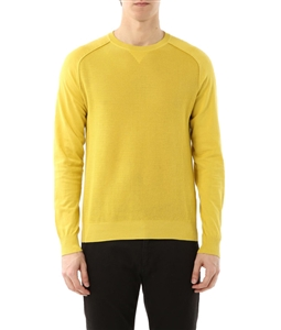 Paolo Pecora - Outlet - maglia girocollo con effetto rete giallo