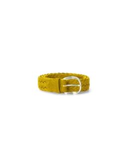 """Orciani - Cinture - cintura sportiva """"mali"""" in pelle e tessuto gialla"""