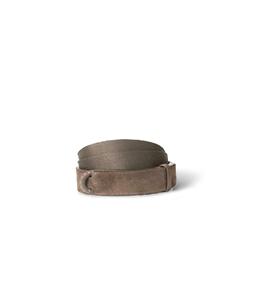 "Orciani - Cinture - cintura nobuckle""suede"" in camoscio e tessuto taupe"