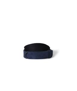 "Orciani - Accessori - cintura nobuckle""suede"" in camoscio e tessuto blu'"