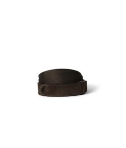 """Orciani - Accessori - cintura nobuckle""""suede"""" in camoscio e tessuto t. moro"""