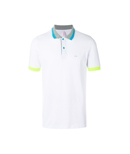 Sun68 - Outlet - polo el. big stripes fluo white