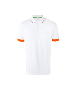 Sun68 - Outlet - polo el. small stripes fluo navy white