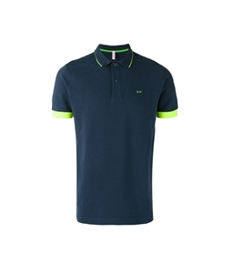 Sun68 - Outlet - polo el. small stripes fluo navy blue