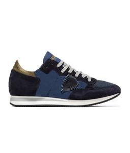 Philippe Model Paris - Scarpe - Sneakers - sneaker in suede tropez mondial bluette/bleu