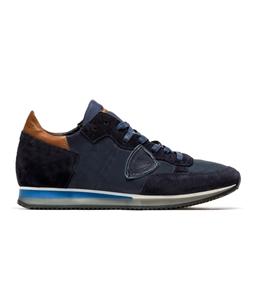 Philippe Model Paris - Scarpe - Sneakers - sneaker in suede tropez bleu/brun/bleu