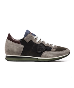 Philippe Model Paris - Scarpe - Sneakers - sneaker in suede tropez mondial gris/gris