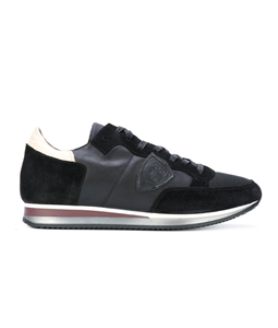 Philippe Model Paris - Scarpe - Sneakers - sneaker in suede tropez mondial noir/buerre/noir