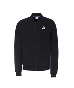 Le Coq Sportif - Maglie - Felpe - felpa con zip tricolore nera