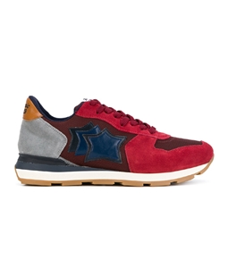 Atlantic Stars - Outlet - sneakers antares in suede bordo'