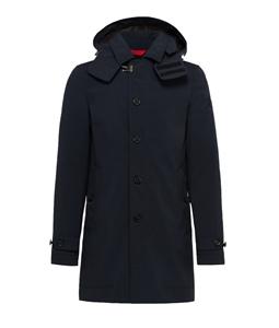 Peuterey - Giubbotti - cappotto trebbio con cappuccio staccabile blu