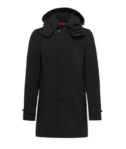 Peuterey - Giubbotti - cappotto trebbio con cappuccio staccabile nero