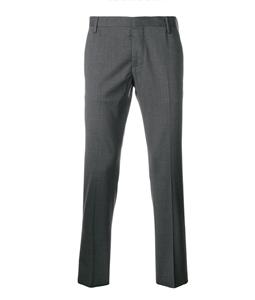 Entre Amis - Pantaloni - pantalone lana tk america corto grigio antracite