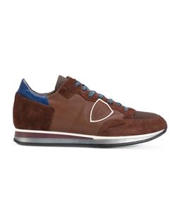 Philippe Model Paris - Scarpe - Sneakers - sneaker in suede tropez mondial mondial brun/blu