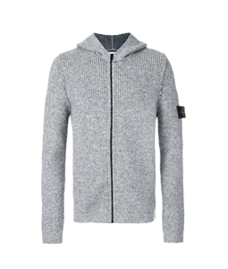 Stone Island - Maglie - Felpe - cardigan reversibile grigio