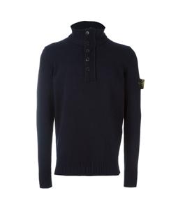 Stone Island - Maglie - Felpe - maglia mezza zip blu