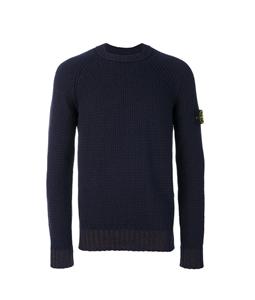 Stone Island - Maglie - Felpe - maglia girocollo in lana blu marine