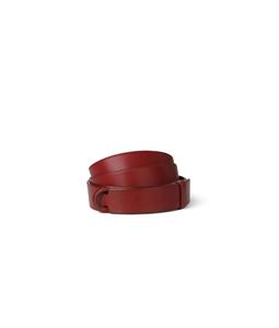 "Orciani - Cinture - cintura nobuckle""bull"" in cuoio rossa"