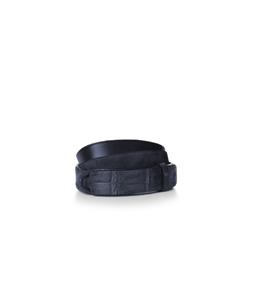 """Orciani - Accessori - cintura nobuckle""""camoscio cocco"""" in coccodrillo blu'"""