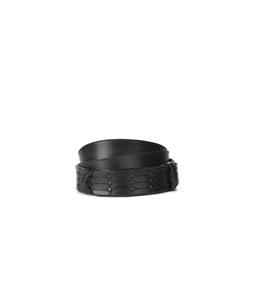 """Orciani - Accessori - cintura nobuckle""""dive"""" in pelle laserata nera"""